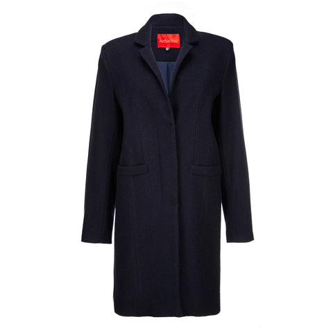 Archie Foal Women's Toril Navy Wool Coat