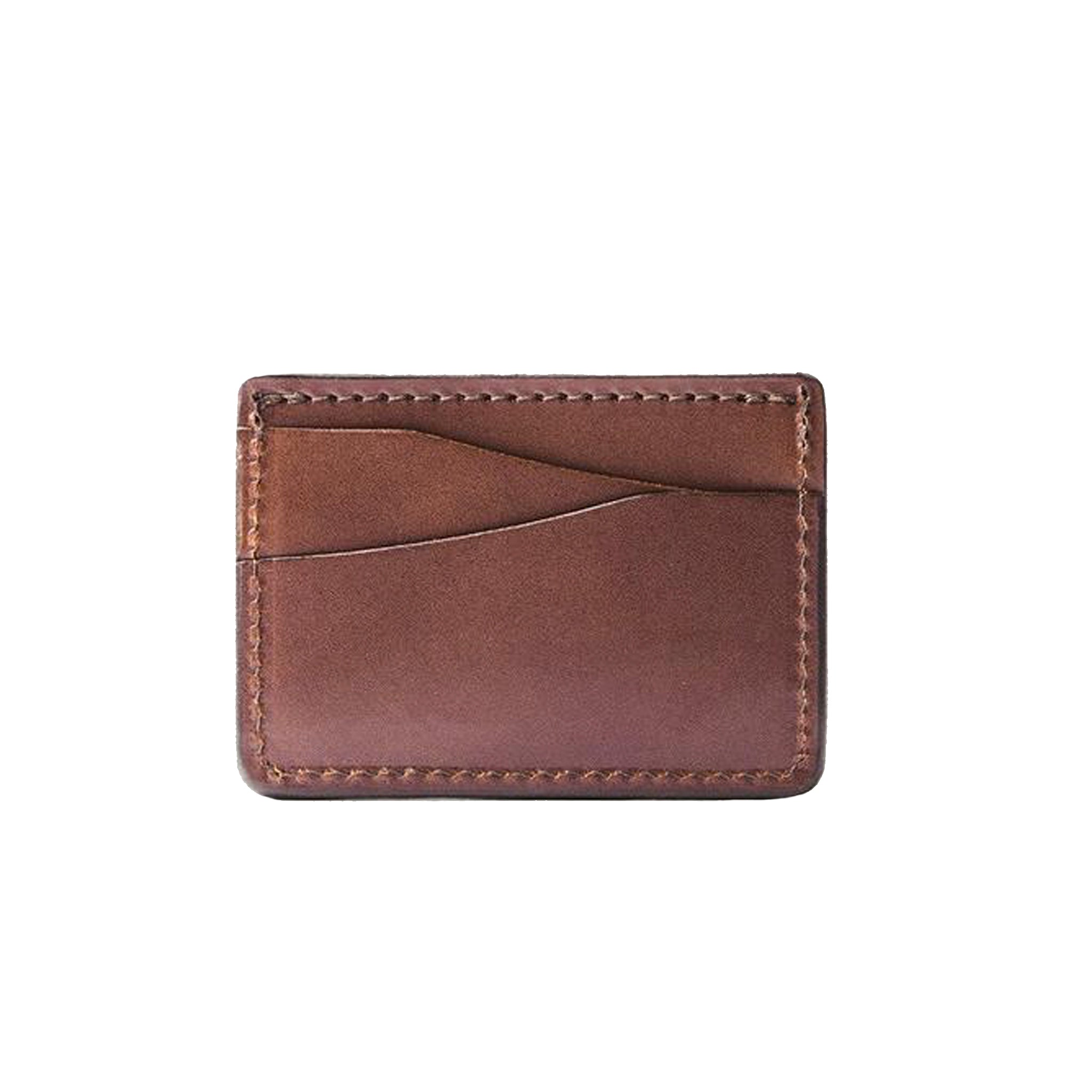 Tanner Goods Journeyman Card Wallet in Cognac