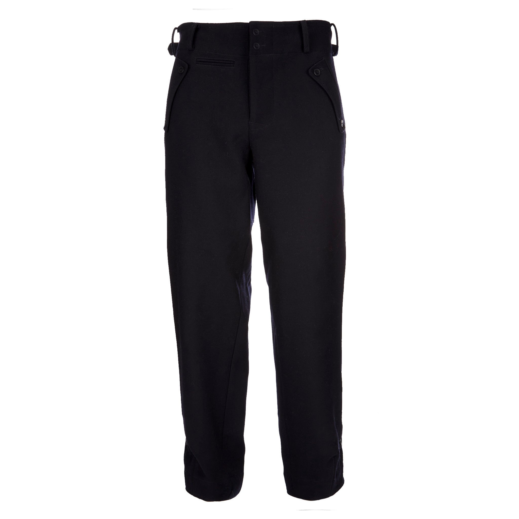 Archie Foal Men's Gunner Wool Combat Trouser in Ink