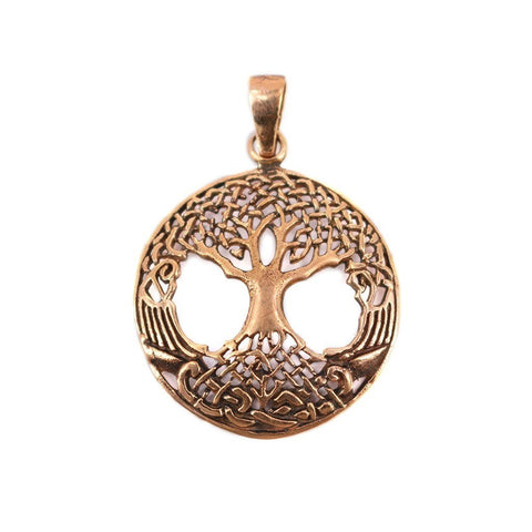 Viking Jewelry - Yggdrasil Amulet, Bronze - Grimfrost.com