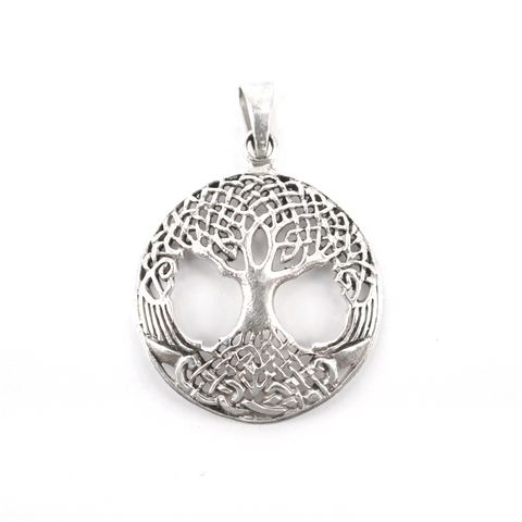 Viking Jewelry - Yggdrasil Amulet, Silver - Grimfrost.com
