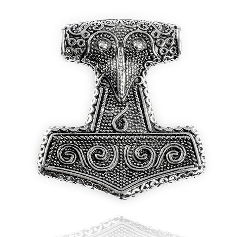 Skane Thor's Hammer, Large, Silver