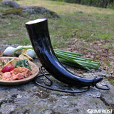 Horn Stands - Drinking Horn Table Stand, Hand Forged - Grimfrost.com