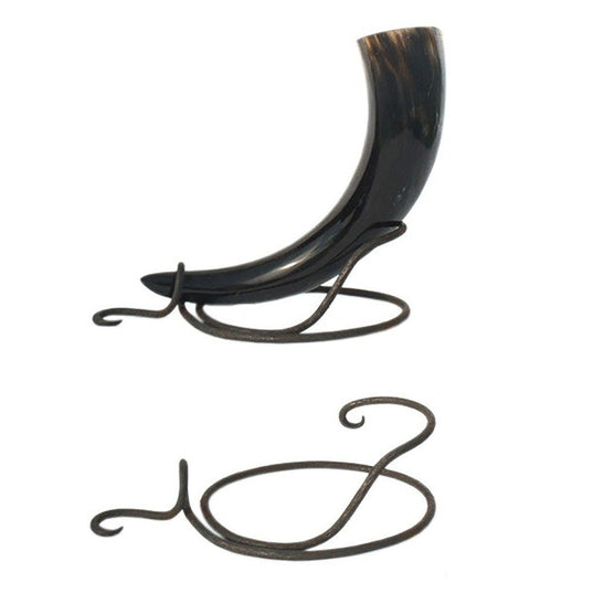 Drinking Horn Stands - Drinking Horn Table Stand, Hand Forged - Grimfrost.com