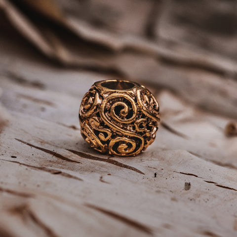 Beard Rings - Bronze Bead, Eternity - Grimfrost.com