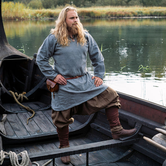 Viking Wool Tunic, Grey