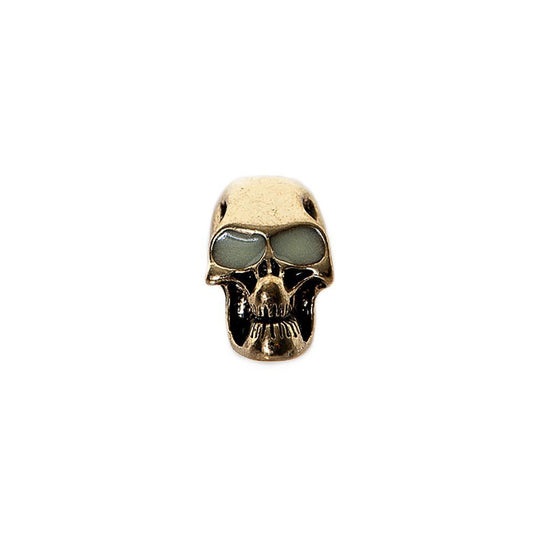 "Beard Rings - Beard Bead, Skull ""glow-in-the-dark"" - Grimfrost.com"