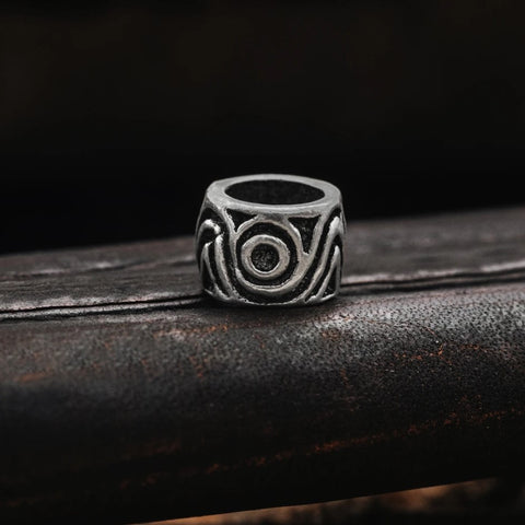 Beard Rings - Swirl Beard Ring, Silver - Grimfrost.com
