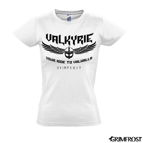 T-shirts - Women's Shirt, Valkyrie, White - Grimfrost.com