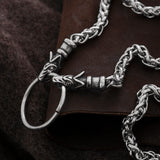 Neck Chains - Wolf Head Chain, Stainless Steel - Grimfrost.com
