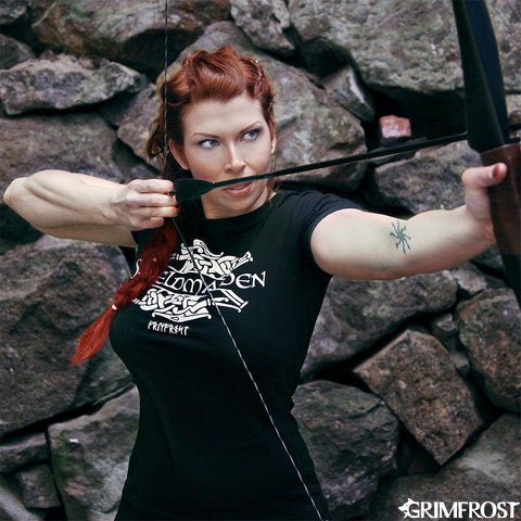 Clothing - Modern - Women's Shirt, Shieldmaiden, Black - Grimfrost.com