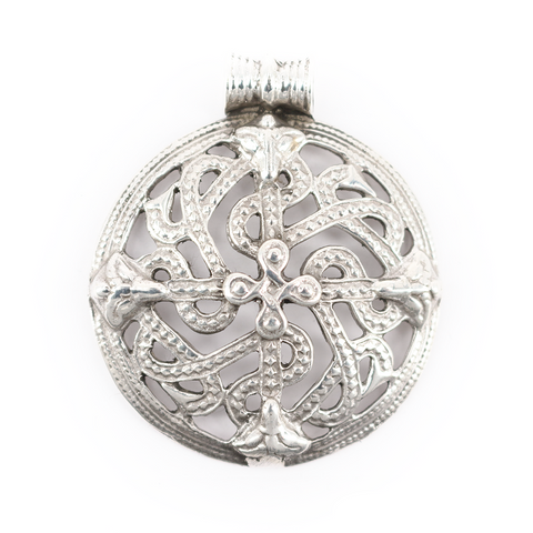 Viking Jewelry - Shield Amulet, Silver - Grimfrost.com