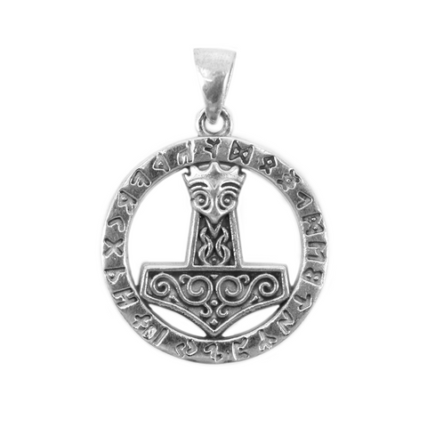 Thor's Hammer - Rune Thor's Hammer, Silver - Grimfrost.com
