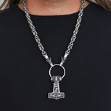 Thor's Hammer - Wolf King Chain Mjölnir, Stainless Steel - Grimfrost.com
