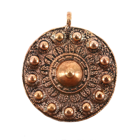 Viking Jewelry - Shield of Valhalla Amulet, Bronze - Grimfrost.com