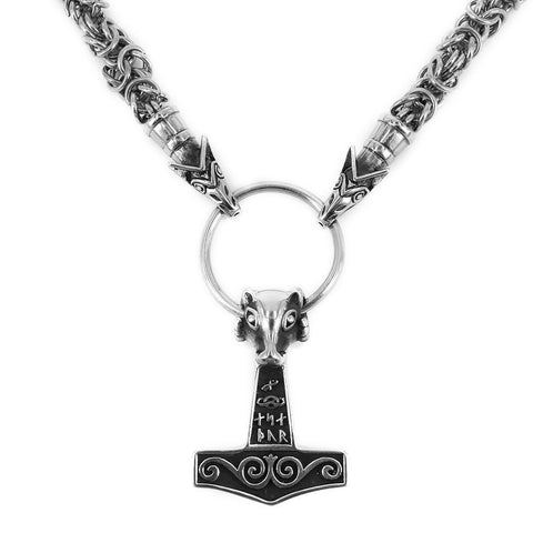 Wolf King Chain, Set 3, Stainless Steel