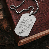 Dog Tags - Havamal Dog Tag, Stanza 16 - Grimfrost.com
