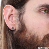Earrings - Stud Earring, Valknut - Grimfrost.com