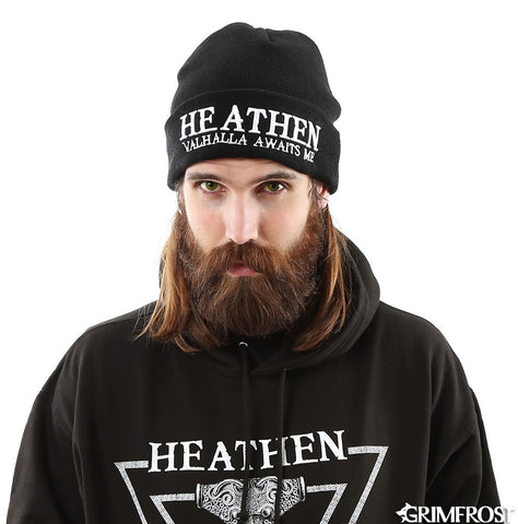 Beanies - Heathen Watch Hat, Black - Grimfrost.com