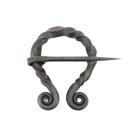 Viking Jewelry - Iron Fibula, Oval 60mm - Grimfrost.com