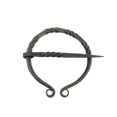 Viking Jewelry - Iron Fibula, Round 70mm - Grimfrost.com