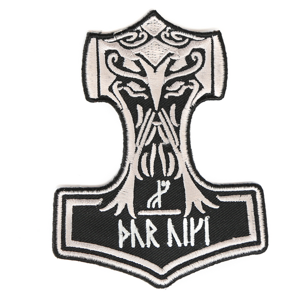 Mjolnir Patch, Embroidered – Grimfrost