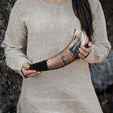 Horns - Carved Drinking Horn, XL - Grimfrost.com