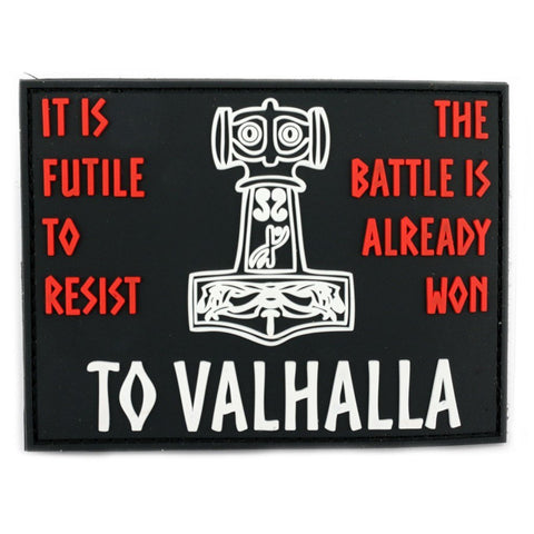 Patches - Valhalla Morale Patch, PVC Velcro - Grimfrost.com