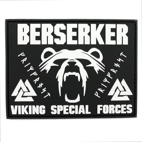 Patches - Berserker Morale Patch, PVC Velcro, Black - Grimfrost.com