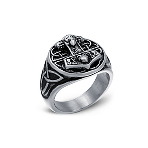 Rings - Mjolnir Ring, Stainless Steel - Grimfrost.com