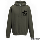 Clothing - Modern - Hoodie, Grimfrost, Army Green - Grimfrost.com