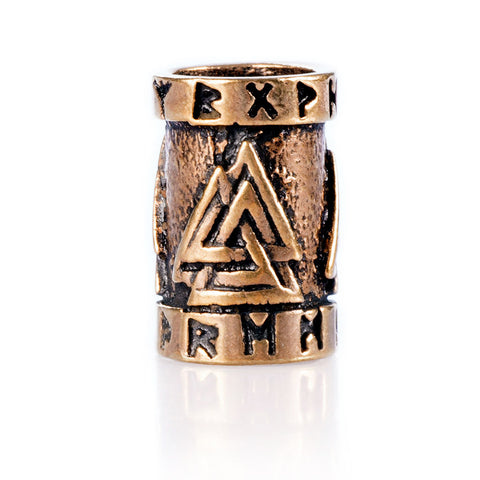 Valknut Beard Ring, Bronze