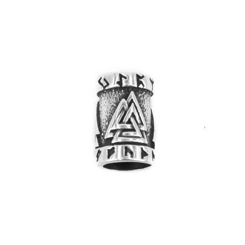 Valknut Beard Ring, Silver