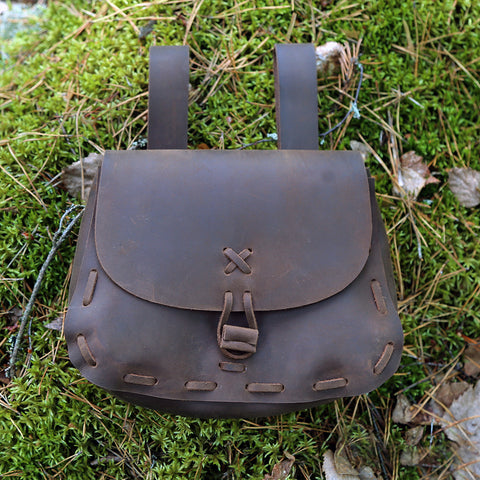 Bags & Pouches - Viking Belt Bag, Oiled Leather - Grimfrost.com