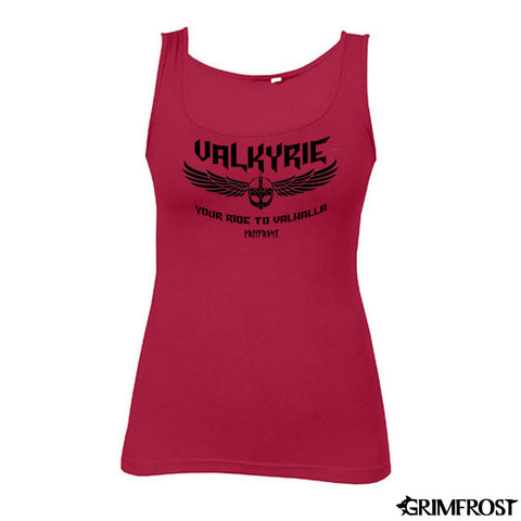 Women's Tank Top, Valkyrie, Red