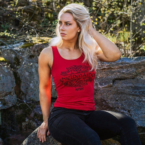 Women's Tank Top, Shieldmaiden, Red