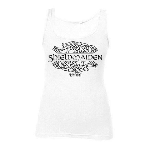 Women's Tank Top, Shieldmaiden, White