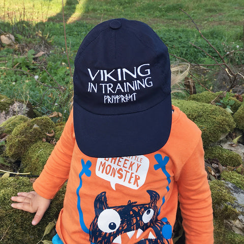 Caps - Kid's Cap, Viking, Navy Blue - Grimfrost.com