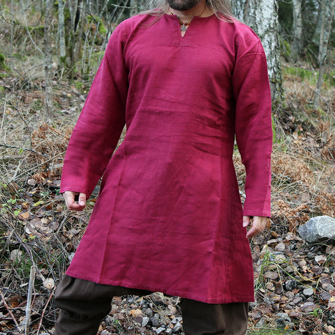 Viking Linen Tunic, Red