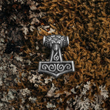 Thor's Hammers - Skane Thor's Hammer, Silver - Grimfrost.com