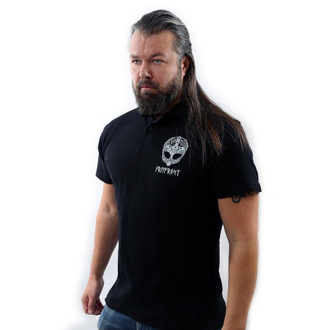 Clothing - Modern - Polo Shirt, Grimfrost, Black - Grimfrost.com