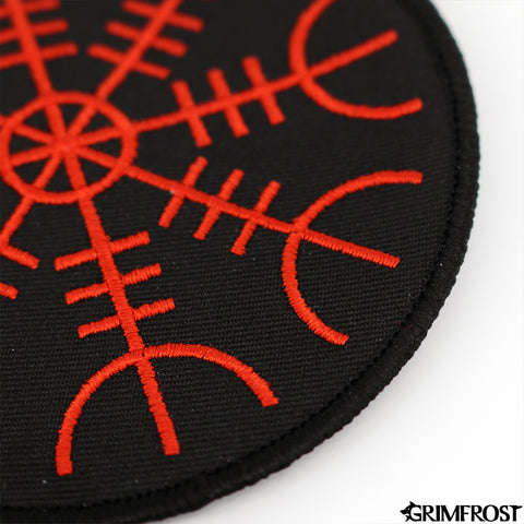 Patches - Aegishjalmur Patch, Embroidered, Black - Grimfrost.com