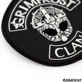 Patches - Grimfrost Clan Patch, Embroidered, Black - Grimfrost.com