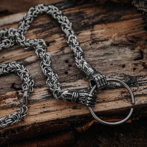 Neck Chains - Jarngreipr King Chain, Stainless Steel - Grimfrost.com