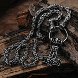 Thor's Hammer - Jarngreipr King Chain, Set 1, Stainless Steel - Grimfrost.com