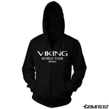 Hoodies - Zip Hoodie, World Tour, Black - Grimfrost.com