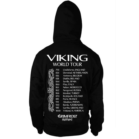 Zip Hoodie, World Tour, Black