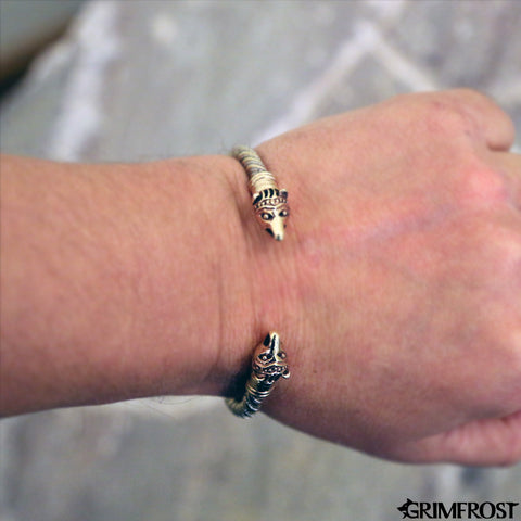 Arm Rings - Bear Armring, Silver and Bronze - Grimfrost.com