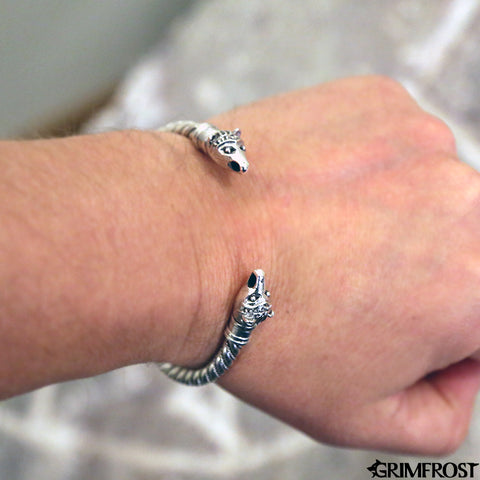Arm Rings - Bear Armring, Silver - Grimfrost.com