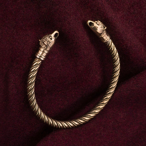 Viking Jewelry - Bear Armring, Bronze - Grimfrost.com